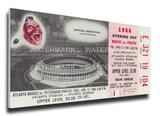 Atlanta Braves 1966 Opening Day / First Game at Atlanta Stadium Mega Ticket Stretched Canvas Print