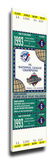 1993 World Series Mega Ticket - Toronto Blue Jays Stretched Canvas Print
