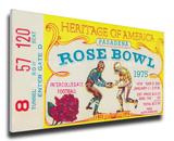 1975 Rose Bowl Mega Ticket - USC Trojans Stretched Canvas Print