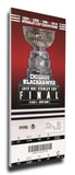 2013 NHL Stanley Cup Final Mega Ticket - Chicago Blackhawks Stretched Canvas Print