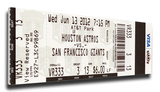 Matt Cain Perfect Game Mega Ticket - San Francisco Giants Stretched Canvas Print
