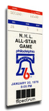 1976 NHL All-Star Game Mega Ticket, Flyers Host - MVP Mahovlich Stretched Canvas Print