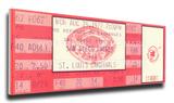 Lou Brock 893 Stolen Base Record Mega Ticket - St Louis Cardinals Stretched Canvas Print