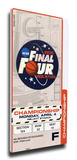 2011 Final Four Mega Ticket - Connecticut Huskies Stretched Canvas Print