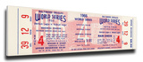 1966 World Series Mega Ticket - Baltimore Orioles Stretched Canvas Print