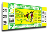 1973 World Series Mega Ticket - Oakland A's Stretched Canvas Print