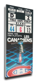 1986 NHL Stanley Cup Mega Ticket - Montreal Canadiens Stretched Canvas Print