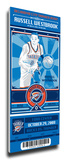 Russell Westbrook Artist Series Mega Ticket - Oklahoma City Thunder Stretched Canvas Print