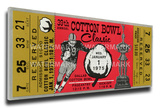 1975 Cotton Bowl Mega Ticket - Penn State Nittany Lions Stretched Canvas Print