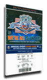 Core of the Four New York Islanders 25th Anniversary Mega Ticket Stretched Canvas Print