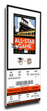 2007 MLB All-Star Game Mega Ticket, Giants Host - MVP Ichiro Suzuki, Mariners Stretched Canvas Print