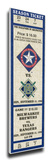 Nolan Ryan Retirement Mega Ticket - Texas Rangers Stretched Canvas Print