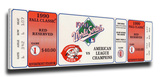 1990 World Series Mega Ticket - Cincinnati Reds Stretched Canvas Print