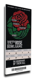2011 Rose Bowl Mega Ticket - TCU Horned Frogs Stretched Canvas Print
