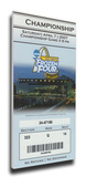 2007 Frozen Four Mega Ticket - Michigan State Spartans Stretched Canvas Print