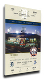 Final Game at Tiger Stadium Mega Ticket Stretched Canvas Print