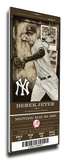 Derek Jeter Artist Series Mega Ticket - New York Yankees Stretched Canvas Print