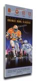 1989 Orange Bowl Mega Ticket - Miami Hurricanes Stretched Canvas Print