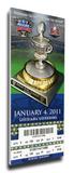2011 Sugar Bowl Mega Ticket - Ohio State Buckeyes Stretched Canvas Print