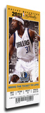 2011 NBA Finals Mega Ticket - Game 3, Terry - Dallas Mavericks Stretched Canvas Print