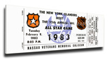 1983 NHL All-Star Game Mega Ticket, Islanders Host - MVP Gretzky Stretched Canvas Print