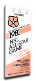 1981 NHL All-Star Game Mega Ticket, Kings Host - MVP Mike Liut Stretched Canvas Print