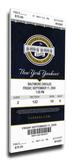 Derek Jeter Yankees Hit Record Mega Ticket - New York Yankees Stretched Canvas Print