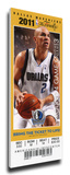 2011 NBA Finals Mega Ticket - Game 5, Kidd - Dallas Mavericks Stretched Canvas Print