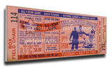 1957 MLB All-Star Game Mega Ticket - Cardinals Host - Sportsman's Park Stretched Canvas Print