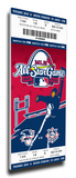 2009 MLB All-Star Game Mega Ticket, Cardinals Host - MVP Carl Crawford, Rays Stretched Canvas Print