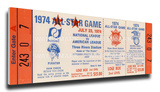 1974 MLB All-Star Game Mega Ticket, Pirates Host - MVP Steve Garvey, Dodgers Stretched Canvas Print
