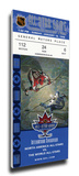 1998 NHL All-Star Game Mega Ticket, Canucks Host - MVP Teemu Selanne, Ducks Stretched Canvas Print