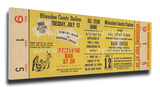 1955 MLB All-Star Game Mega Ticket - Braves Host - County Stadium Stretched Canvas Print