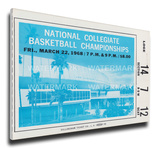 1968 NCAA Basketball Championship Mega Ticket - UCLA Bruins Stretched Canvas Print