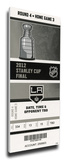 2012 NHL Stanley Cup Final Mega Ticket - Los Angeles Kings Stretched Canvas Print