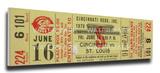 Tom Seaver No-Hitter Mega Ticket - Cincinnati Reds Stretched Canvas Print