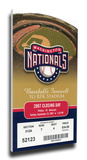 Final Game at RFK Stadium Mega Ticket - Washington Nationals Stretched Canvas Print