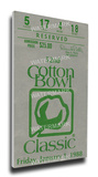 1988 Cotton Bowl Mega Ticket - Texas A&M Aggies Stretched Canvas Print