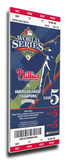2008 World Series Mega Ticket - Philadelphia Phillies Stretched Canvas Print