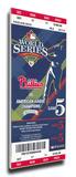 2008 World Series Mega Ticket - Philadelphia Phillies Stretched Canvas Print