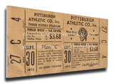 Roberto Clemente 3,000 Hit Mega Ticket - Pittsburgh Pirates Stretched Canvas Print