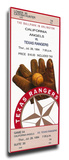 Kenny Rogers Perfect Game Mega Ticket - Texas Rangers Stretched Canvas Print