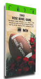 1992 Rose Bowl Mega Ticket - Washington Huskies Stretched Canvas Print