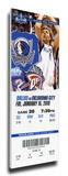 Dirk Nowitski Mega Ticket - Dallas Mavericks Stretched Canvas Print