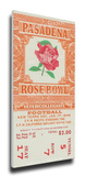 1949 Rose Bowl Mega Ticket - Northwestern Wildcats Stretched Canvas Print