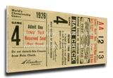 1926 World Series Mega Ticket - St Louis Cardinals Stretched Canvas Print