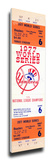 1977 World Series Mega Ticket - New York Yankees Stretched Canvas Print