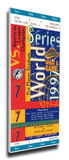 1997 World Series Mega Ticket - Florida Marlins Stretched Canvas Print