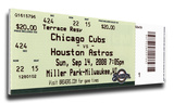 Carlos Zambrano No Hitter Mega Ticket - Chicago Cubs Stretched Canvas Print
