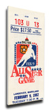 1982 NHL All-Star Game Mega Ticket, Capitals Host - MVP Mike Bossy Stretched Canvas Print